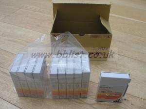 10 new Sony DVCAM Master tapes