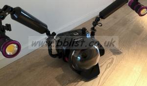 BlackMagic 4K camera + Nauticam underwater housing