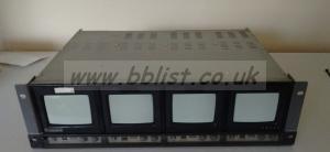 Ikegami PM-404 B/W Quad Bank Composite Monitor Rack