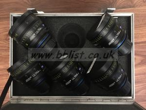 Zeiss Ultra 16 lenses - 8mm, 9.5mm, 12mm, 14mm & 18mm