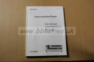 Sony UVW-1600 Manual