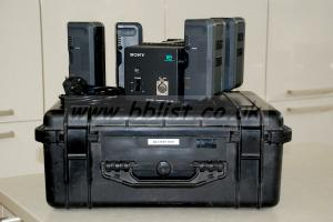Sony BC-L120 Quad Charger, 4 x Sony BPL90's & 1550 Peli Case