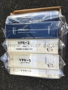 Ampex VPR-3 manual set, training manuals, extender boards