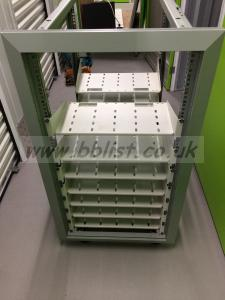 19 inch free standing rack unit complete with bay shelves