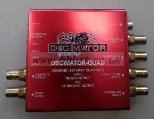 Decimator QUAD - 3G/HD/SD-SDI Quad Split