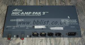 ALICE Mic Amp Pak 2