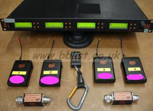Audio Ltd. RK2040 Rackreceiver wth 4pcs. TX2040 Transmitter