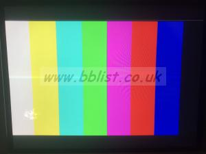 JVC DTV-1710CG HD-SDI, SDI Monitor w/wide Mask Blemish can be seen bottom left when Colour Bars are fed to screen.