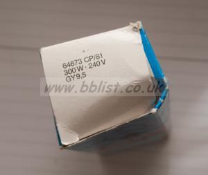 CP81 300w 240v GY9.5  bulb for film light