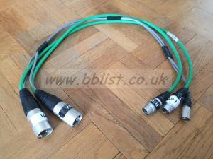 Dual XLR3/ Lemo6 Powered Output Cable