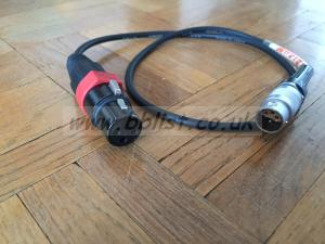 XLR 3 Single  Lemo 6 Input Cable