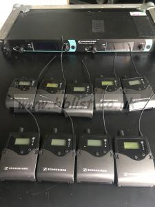 Sennhieser IEM system transmitter and 9 beltpacks