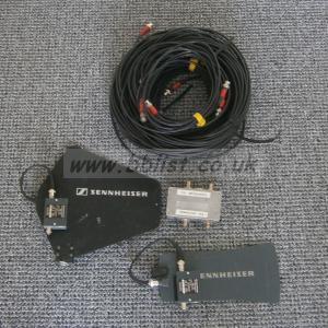 2 Sennheiser antennae, boosters, DC inserter and RF cables