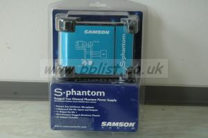 Samson S-Phantom 48V Microphone power supply.