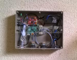 2-axis stepper motor controller using Raspberry Pi computer