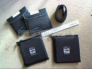 "PortaBrace 7""  ""armored"" filter etc pouches ,"