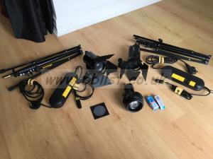 2x Dedolight DLH4 power DT24-1E, lens projector
