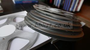 7 large sound tape spools
