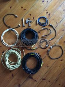 BNC Cables - 10 assorted lenghts and various adapters