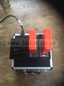 swit 2x lithiun ion batteries with charger, case & hotshoe