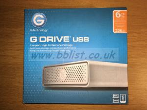 G-Drive 6TB USB 3.0 hard drive, boxed, excellent condition