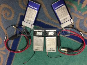 2 x Micron Radio Microphones with accessories