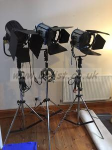 3 x 1k Fresnel lamps