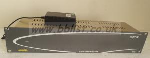 Evertz Topaz 16x16 SDI Video Router Plus power supply