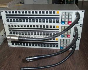 3x Telex KP-950 2u Intercom Panels with Microphones
