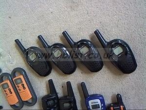 12 walkie talkies . Motorola, Cobra, etc