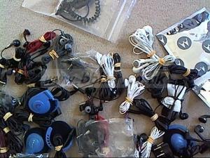 65x pairs of  assorted  headphones