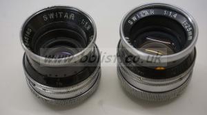 Switar lenses 1.4 25mm and 1.8 16mm