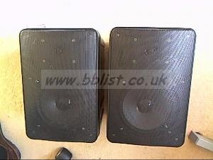 pair indoor/outdoor P.A.speakers.