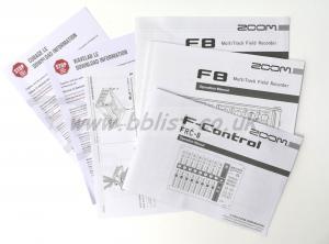 Zoom F8 Recorder + F8 controller + Bag Manuals