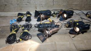 4x Dedolight 150w 24V aspherics2 with inline dimmers DT24-1E