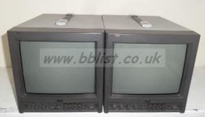 2x JVC TM-1010PND SDI 10inch Broadcast monitors