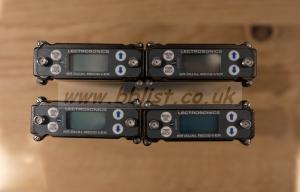 4 x Lectrosonics SRC Block B1 with SuperSlot adapters