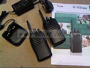 Icom walkie talkie kit..as new.