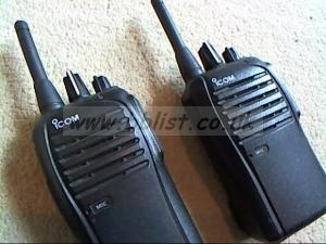 Icom walkie talkie kit..as new.
