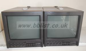 2x JVC 10inch TM-1010 SDI/Composite Video Monitors