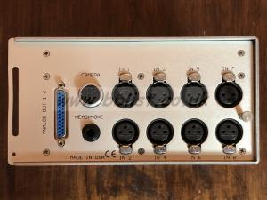 Zaxcom DEVA IV package right side with analog ins, headphone out and analog out