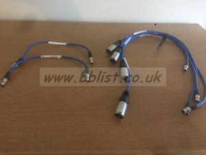 Sound Devices  Xl-1B  (x2),  XL-2  (x4) Ta3, Ta3-XLR Cables