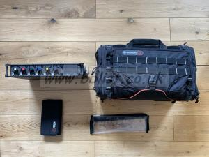 Sound Devices 664 with bag and NP batteries