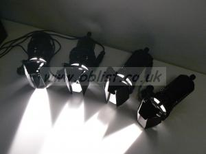 Dedolight 4 head kit with Power unit, projector etc