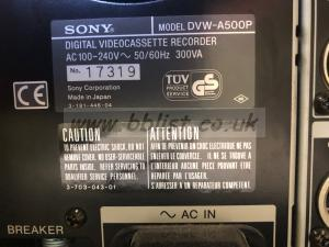 DIGI BETA Recorder/Player  Sony DVW-A500