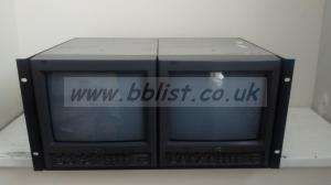 2x JVC Tm1010 rack mount 10inch monitors