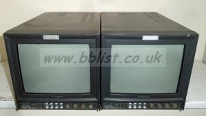 2x Ikegami TM-10-17 Pal 450TV Lines Broadcast Monitors