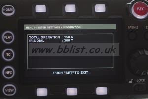 Panasonic Varicam LT Kit Only 150 Hours Operation Time!!