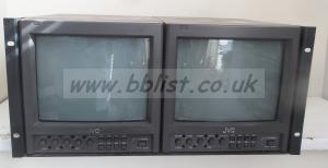 2x JVC-TM-1010 Crt Broadcast Monitors Rack