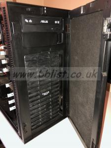 Intel PC 16TB RAID and Two Dell monitors PC With quiet door perfect for silent running in room